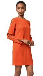 Tibi Button Sleeve Dress Paprika