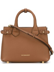 Burberry Small 'Banner' Tote Brown