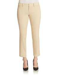 Lord And Taylor Ankle Length Stretch Pants Sand