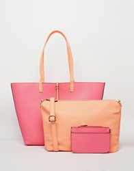 Oasis Primrose Reversible Shopper Pink