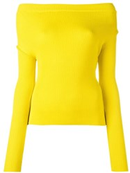 Jacquemus Cold Shoulder Pullover Jumper Yellow Orange