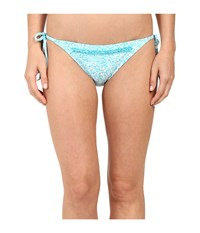 Michael Michael Kors Lantana Beaded String Bottom Turquoise Women's Swimwear Blue