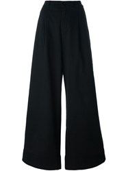 P.A.R.O.S.H. High Waisted Palazzo Pants Black