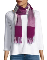 Lord And Taylor Plaid Cashmere Scarf Berry