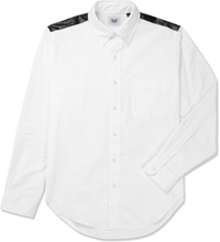 Mark Mcnairy White Contrast Yoke L S Oxford Shirt