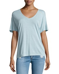 Rag And Bone Rag And Bone Jean Concert Short Sleeve V Neck Tee Cloud Blue Size Small