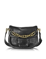 Pierre Hardy Alphaville Black Grained Leather Shoulder Bag