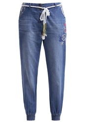 Desigual Sidio Relaxed Fit Jeans Azul Media Noche Blue