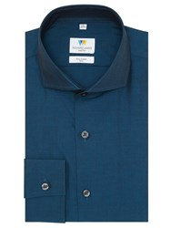 Richard James Mayfair Tonic Cutaway Shirt Teal