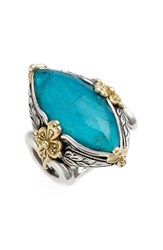 Women's Konstantino 'Iliada' Marquise Doublet Ring Blue Green