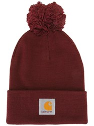 Carhartt Logo Patch Beanie Pink Purple
