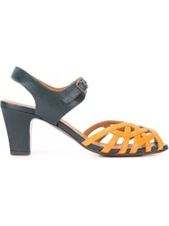 Chie Mihara Ankle Strap Sandals Yellow And Orange