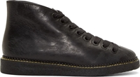 Alexander Wang Black Glazed Leather Emmanuel Desert Boots