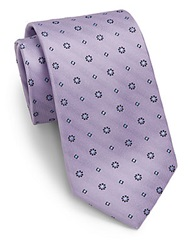English Laundry Mixed Patterned Silk Tie Purple