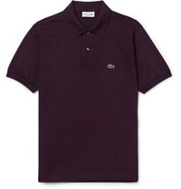Lacoste Cotton Pique Polo Shirt Purple