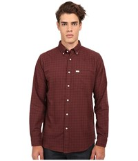 Matix Clothing Company Gridley Woven Shirt Oxblood Men's Long Sleeve Button Up Red