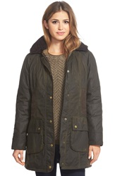 Barbour 'Bower' Waxed Cotton Jacket Olive