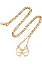 Red Valentino Gold Tone Necklace Black