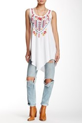 3J Workshop Embroidered Tunic Tank White