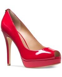 Michael Kors York Platform Pumps Women's Shoes Crimson