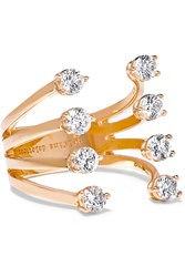 Delfina Delettrez 18 Karat Rose Gold Diamond Ring