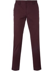 Michael Kors Slim Fit Chinos Pink And Purple