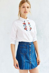 Sister Jane Floral Garland Blouse White