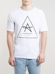 Topman Antioch Triangle T Shirt White