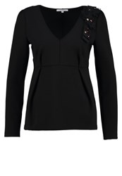 Patrizia Pepe Long Sleeved Top Black