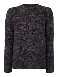 Label Lab Burke Multicoloured Crew Neck Jumper Dark Grey