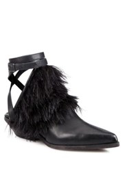 Ld Tuttle The Lounge Leather And Feather Cowboy Booties Black