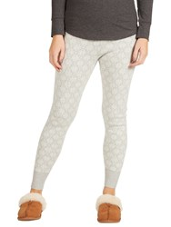 Fat Face Knitted Snowflake Cuffed Leggings Grey