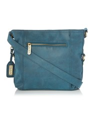 Ollie And Nic Edna Blue Medium Crossbody Bag Blue