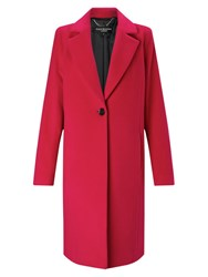 Four Seasons Cocoon Wool Blend Coat Fuchsia