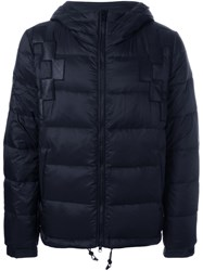 Marcelo Burlon County Of Milan Hooded Padded Jacket Black