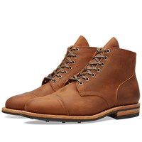 Viberg Toe Cap Service Boot Brown