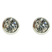 Finesse Sparkly Crystal Stud Earrings Silver