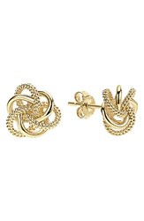 Women's Lagos 'Love Knot' 18K Gold Stud Earrings