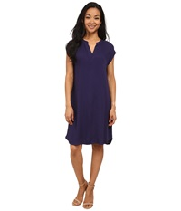 Allen Allen Splitneck Dress Limousine Women's Dress Blue