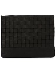 Balmain Embossed Clutch Black