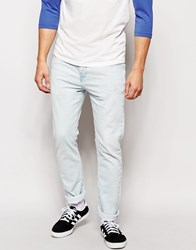 River Island Skinny Jeans In Acid Wash Blue