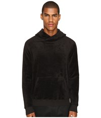 Atm Anthony Thomas Melillo Velour Hoodie Black Men's Sweatshirt