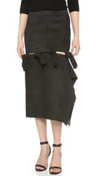 Acne Studios Hein Leather Skirt Black