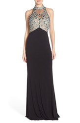 Women's Sean Collection Embellished Mesh And Jersey Gown
