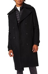 Topman Men's Wool Blend Trench Coat