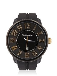 Tendence Round Gulliver Black And Yellow Watch