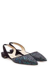 Paul Andrew Suede Slingbacks With Glitter Multicolor