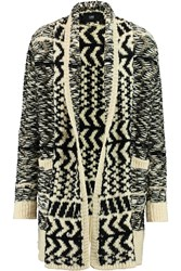 Line Carson Chunky Knit Wool Blend Cardigan White