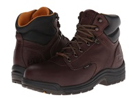 Timberland Titan Waterproof 6 Safety Toe Dark Mocha Full Grain Leather Men's Work Lace Up Boots Brown
