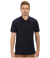 7 For All Mankind Raw Placket Polo Authentic Navy Men's Short Sleeve Pullover